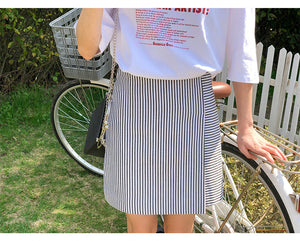 'LIL STRIPED SKIRT
