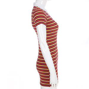 """RED APPLE"" STRIPED DRESS"