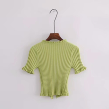 "Load image into Gallery viewer, ""MIMI"" CROP TOP (3 COLORS)"