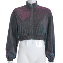 "Load image into Gallery viewer, ""GALAXY STAR CHILD"" CROPPED JACKET"