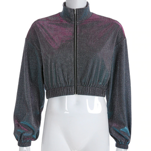 """GALAXY STAR CHILD"" CROPPED JACKET"