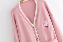 "Load image into Gallery viewer, ""BUNNY FRIEND"" CARDIGAN"