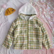 "Load image into Gallery viewer, ""KAWAII"" REVERSIBLE PLAID JACKET (2 COLORS)"