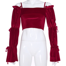 "Load image into Gallery viewer, ""VALENTINES"" VELVET TOP"