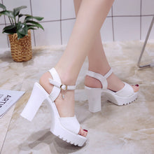 "Load image into Gallery viewer, ""SUMMER HOLIDAY"" CHUNKY HEELS (2 COLORS)"