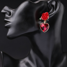 "Load image into Gallery viewer, ""ROSE JEWEL"" EARRINGS"
