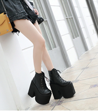 "Load image into Gallery viewer, ""MALA"" PLATFORM ANKLE BOOTS"