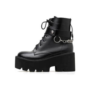 """CHAINED UP"" ANKLE BOOTS"