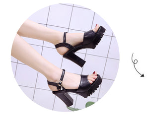 """SUMMER HOLIDAY"" CHUNKY HEELS (2 COLORS)"