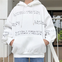 "Load image into Gallery viewer, ""I AM NOT A HUMAN BEING"" HOODIE (2 COLORS)"