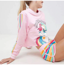 "Load image into Gallery viewer, ""CLASSIC MLP"" CROPPED SWEATSHIRT"