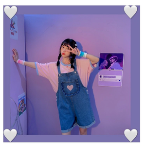 """POCKET OF LOVE"" OVERALLS (2 COLORS)"