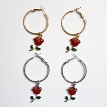 "Load image into Gallery viewer, ""BABY ROSE"" EARRINGS (2 COLORS)"