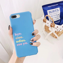 "Load image into Gallery viewer, ""HOW TO SAY GOODBYE"" IPHONE CASE"