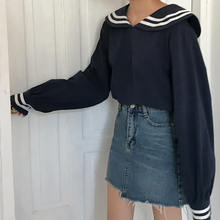 "Load image into Gallery viewer, ""SIMPLE SAILOR"" BLOUSE (2 COLORS)"
