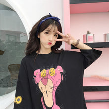 "Load image into Gallery viewer, ""CRAZY"" PINK PANTHER TOP (2 COLORS)"