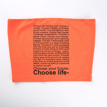 "Load image into Gallery viewer, ""CHOOSE YOUR FUTURE / CHOOSE LIFE"" CROP TOP"