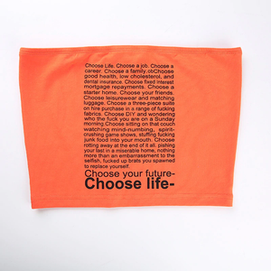 """CHOOSE YOUR FUTURE / CHOOSE LIFE"" CROP TOP"