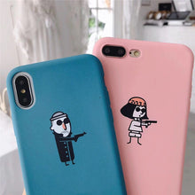 "Load image into Gallery viewer, ""LEON & MATILDA"" MATCHING IPHONE CASES"
