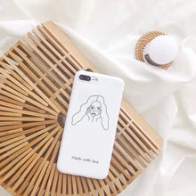 "Load image into Gallery viewer, ""MADE WITH LOVE"" IPHONE CASE"