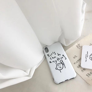 """GIRLS CAN DO ANYTHING"" IPHONE CASE"
