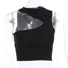 Load image into Gallery viewer, TURTLENECK CUT CROP TOP