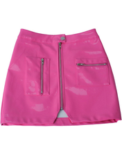Load image into Gallery viewer, HOT PINK ZIP UP SKIRT