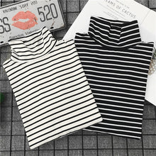 "Load image into Gallery viewer, ""SIMPLE"" STRIPED TURTLENECK (2 COLORS)"