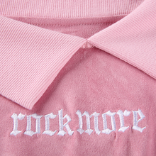 "Load image into Gallery viewer, BLUSH ""ROCKMORE"" CROPPED SWEATSHIRT"