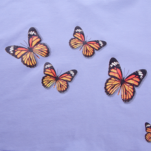 "Load image into Gallery viewer, ""BUTTERFLY SKIES"" CROP TOP"