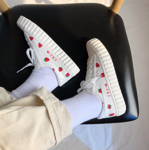 """SIMPLE STRAWBERRY"" SNEAKERS"