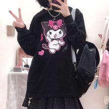 "Load image into Gallery viewer, ""KUROMI LOVE"" SWEATSHIRT (2 COLORS)"