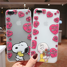 "Load image into Gallery viewer, ""CHARLIE BROWN LOVE"" IPHONE CASE"