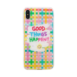 """GOOD THINGS HAPPEN"" IPHONE CASE"