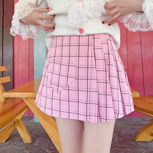 "Load image into Gallery viewer, ""HEART GRID"" SKIRT"