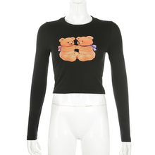 "Load image into Gallery viewer, ""LOVING BEARS"" CROP TOP"