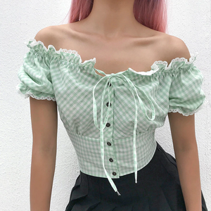 """FOREST LACE"" CROP TOP"