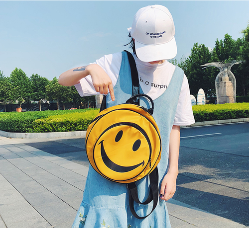 HAPPY FACE BAG (2 COLORS)