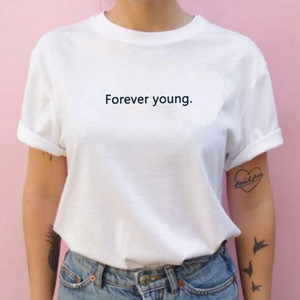 """FOREVER YOUNG"" SHIRT (3 COLORS)"