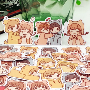 """COZY KIGURUMI COUPLE"" STICKERS"
