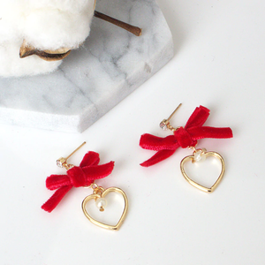"""HEART BOW"" EARRINGS (2 COLORS)"