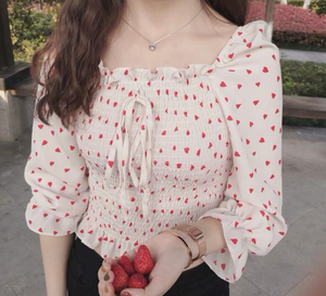 """SPOTTED SPRING DAY"" BLOUSE"
