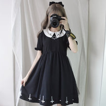 "Load image into Gallery viewer, ""GOTHIC CROSS"" DRESS"