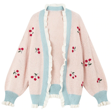 "Load image into Gallery viewer, ""CHERRY DOLL"" CARDIGAN (3 COLORS)"