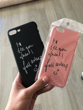 "Load image into Gallery viewer, ""I'LL SEE YOU WHEN I FALL ASLEEP"" IPHONE CASE (2 COLORS)"
