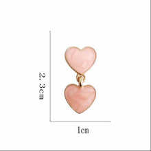"Load image into Gallery viewer, ""CANDY HEARTS"" EARRINGS (2 COLORS)"