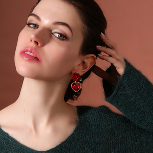 """ROSE JEWEL"" EARRINGS"