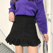 Load image into Gallery viewer, RUFFLE SCALLOP SKIRT (4 COLORS)