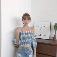 "Load image into Gallery viewer, ""PICNIC MEMORY"" CROP TOP (2 COLORS)"