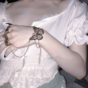 """MADAME BUTTERFLY"" CHAIN BRACELET (2 COLORS)"
